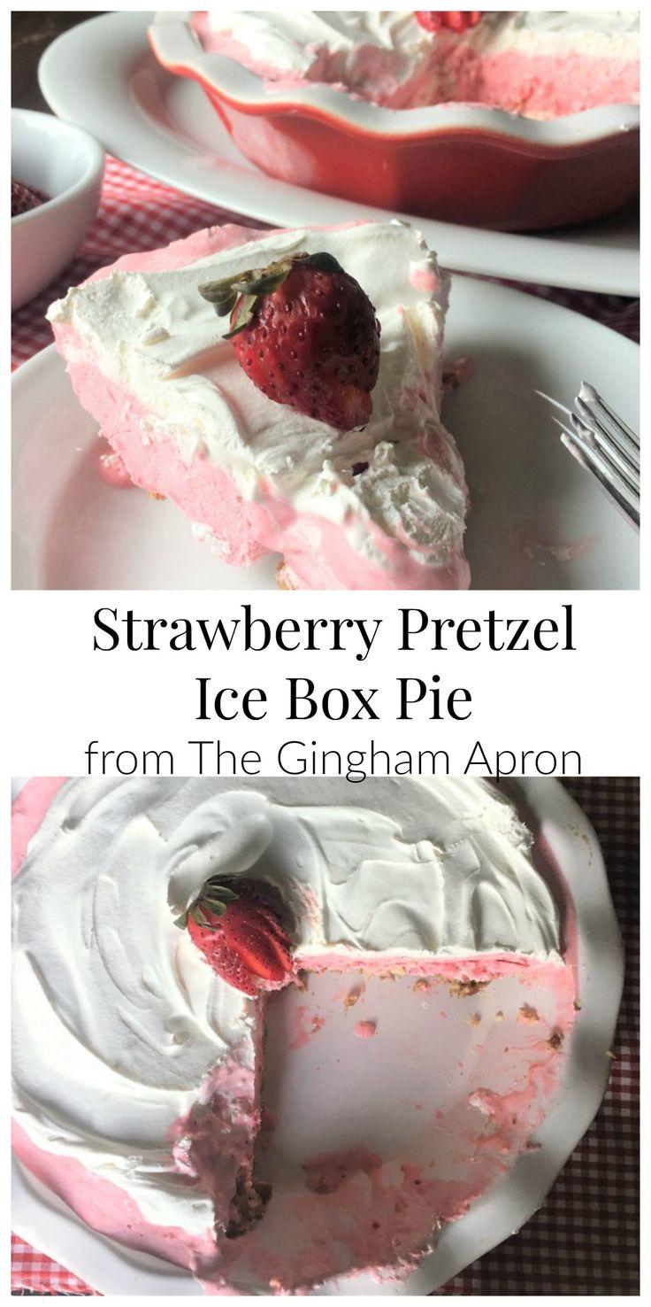 Strawberry Pretzel Ice Box Pie