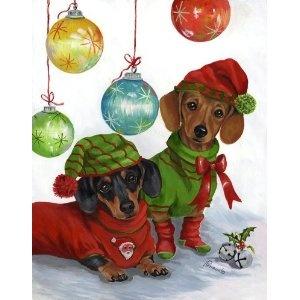 Dachshund through the snow . . . Merry Christmas!   #Doxie ♥ Love