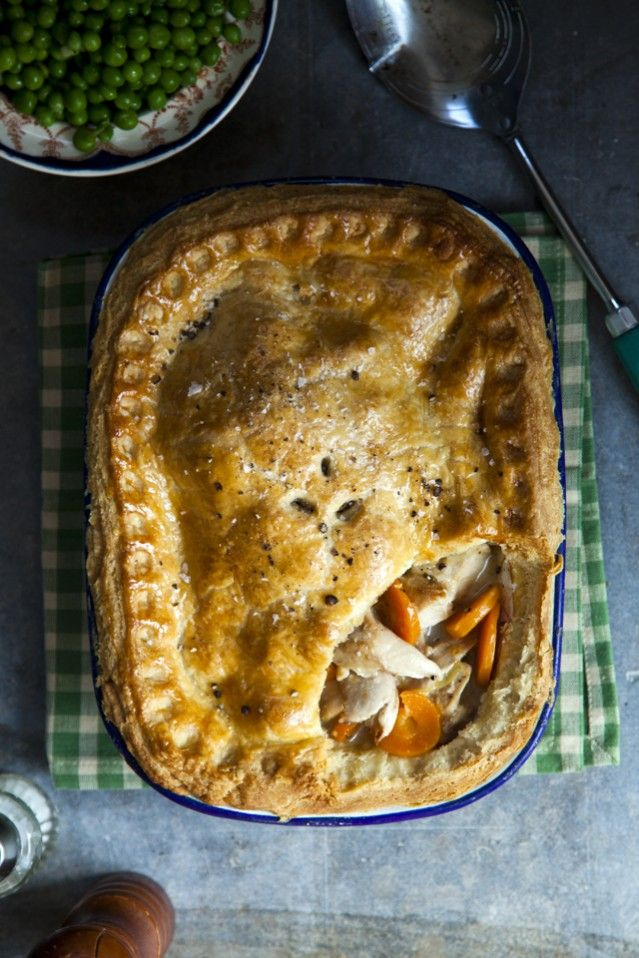 Braised Rabbit Pie... A meat not used in Ireland as much as it once was, rabbit is the perfect choice to fill this savoury Irish pie. Traditional Irish Recipe. | DonalSkehan.com