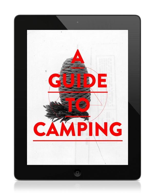 A Guide to Camping by Donica Ida, via Behance