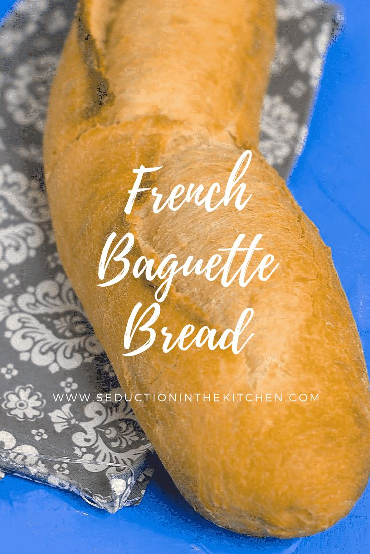 Homemade French Baguette Bread is easy to make at home. There is nothing like fresh homemade bread right out your oven. This French bread is one you will want to make over and over again because it is so easy to make | Seduction In The Kitchen #frenchbread #Baguette #homemadebread #bread #recipes