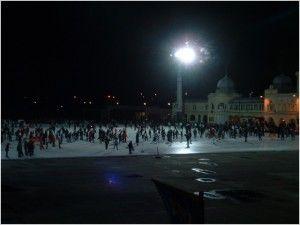 Ice skating in the City Park in Budpest...