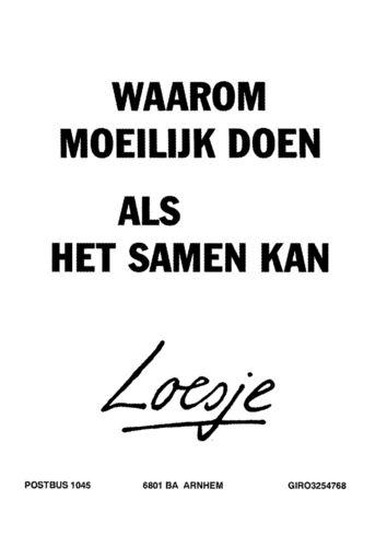 Uitspraken van Loesje!