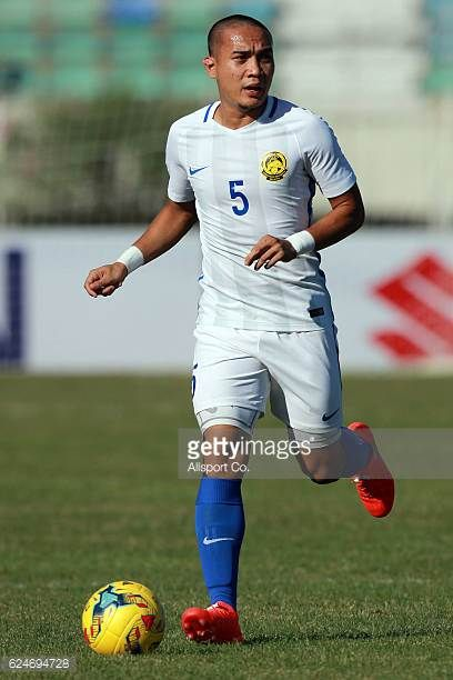 Muhammad Shahrom of Malaysia in action during the final round Group B AFF Suzuki Cup match between Malaysia and Cambodia at the Thuwanna Stadium on...