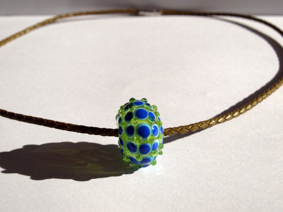 Necklace with one glass bead