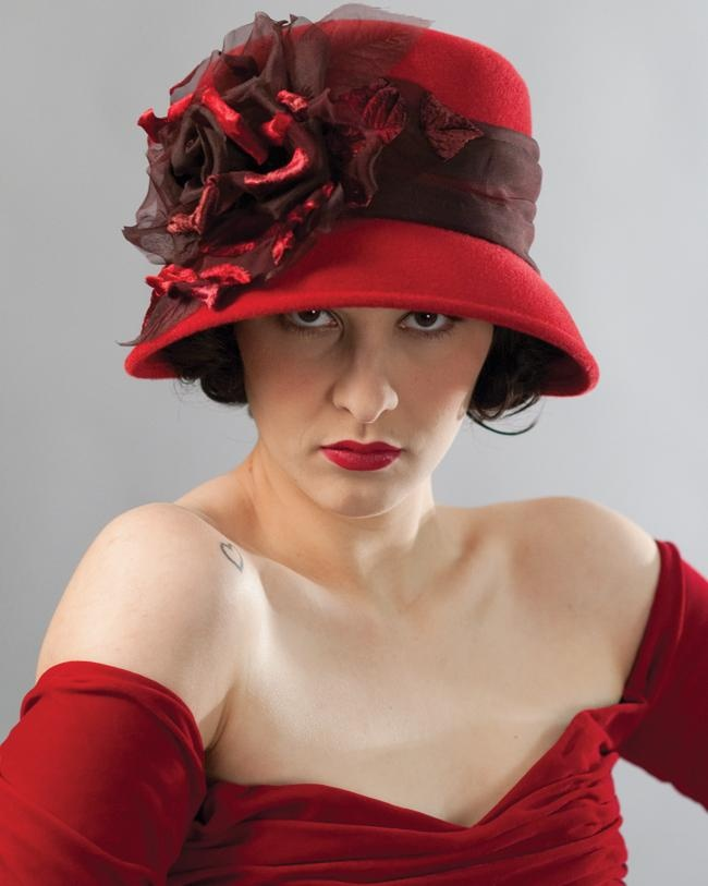 Louise Green scarlet cloche