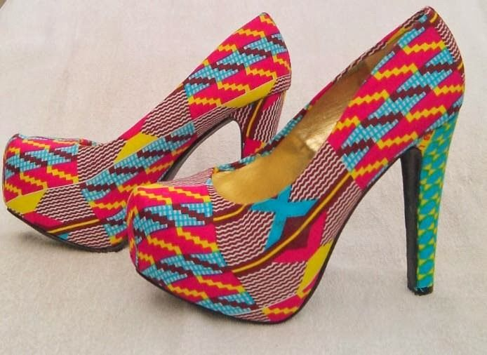 Cute Ankara Ladies Shoes