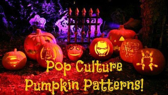 Printable Pop Culture Pumpkin Patterns
