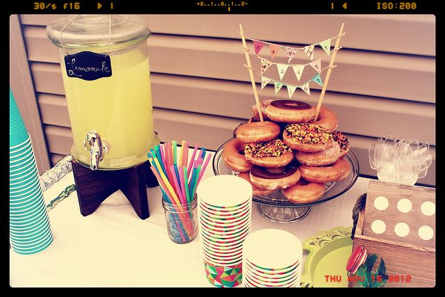 donut party - donut cake