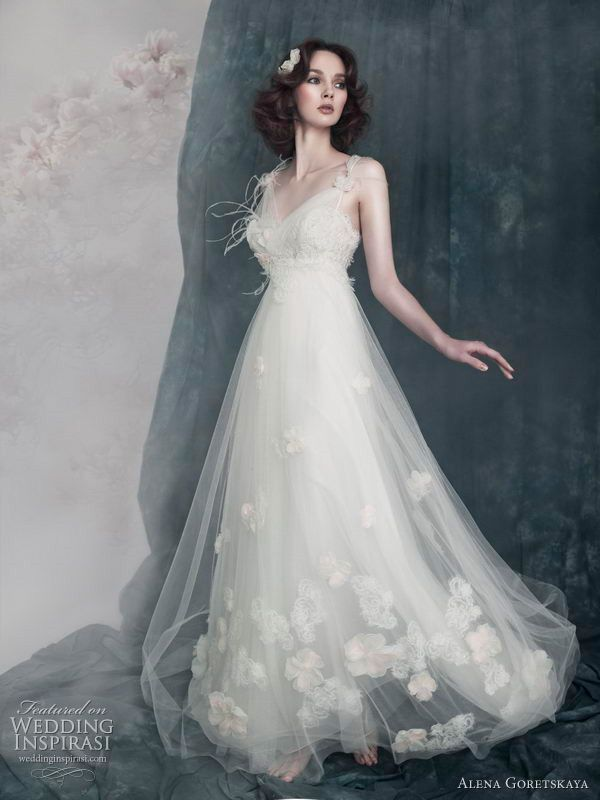 Empire Tulle Elegant With Fl Detailing Accents Dreamy Gown Length Wedding Dres