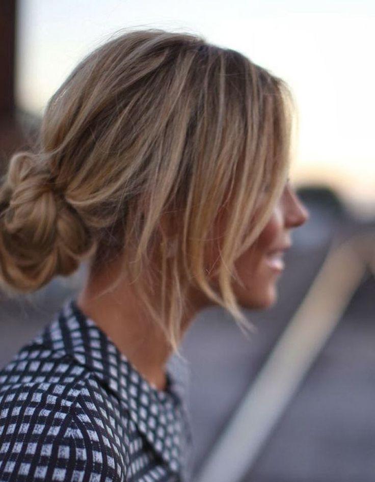 Coiffure cheveux attachés tendance hiver 2015