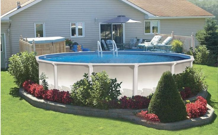 Above ground pool landscaping pictures of landscaping for Pool landscaping ideas