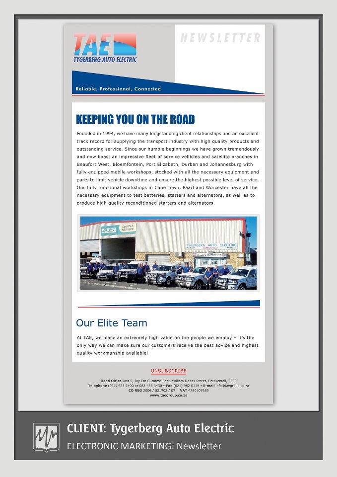 ELECTRONIC MARKETING: Newsletter
