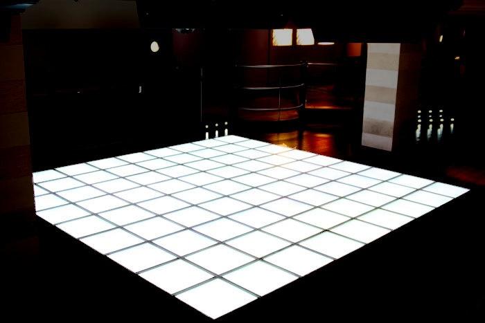 led dance floor, all white.