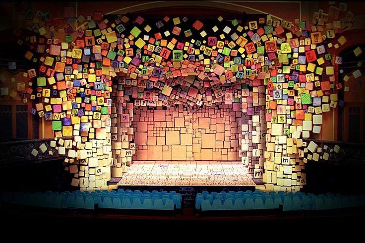 Scenic Design Model - Matilda The Musical...JUST WOW! beautifully clever and fun, extremely well executed idea... I am fully in love and in awe of this!