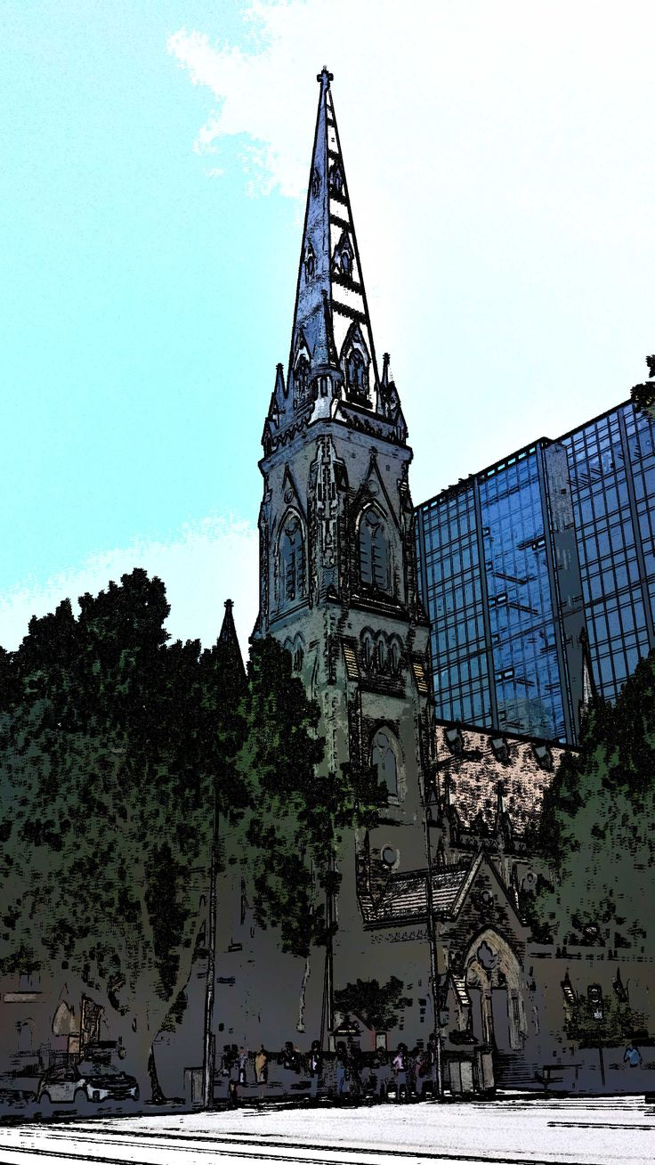Collins Street church - NW corner of Russell St.