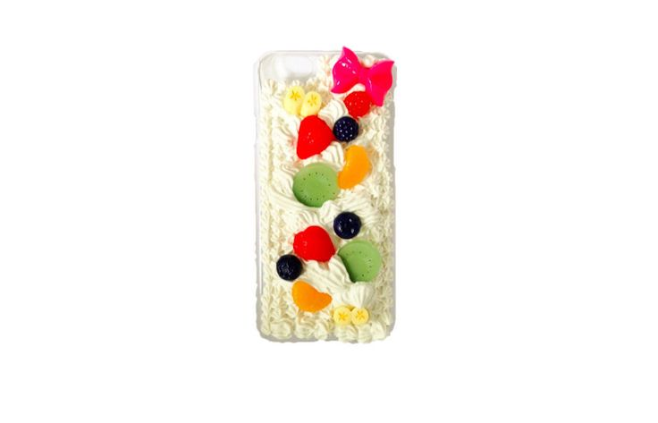 Kawaii Cute Fruit Cake decoden case for iPhone6 (Ready to be shipped) by PepperAndSoda on Etsy