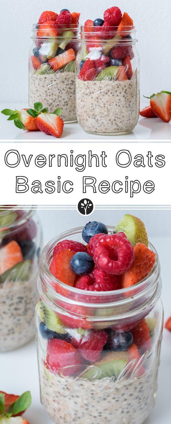 Our #overnightoats basic recipe on eat-vegan.de // Das Basisrezept zu unseren Overnight Oats findest du auf unserem Blog!