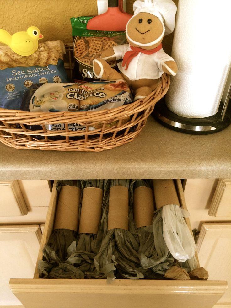 Alguien tiene idea de c mo guardar las bolsas de pl stico - Guardar bolsas plastico ...