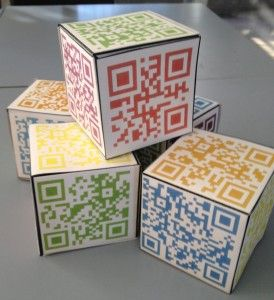 QR cubes - great for reflections and listening activities.