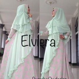 Gamis Muslim Wanita Elegant Elviera Hijau