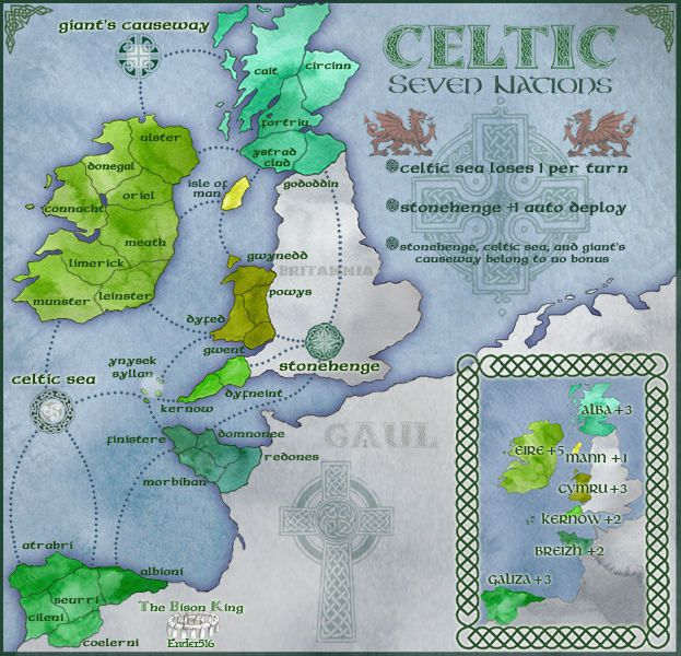 Celtic Nations--Ireland, Scotland, Wales, Cornwall, Spanish Galicia, Brittany, Isle of Man (Manx)
