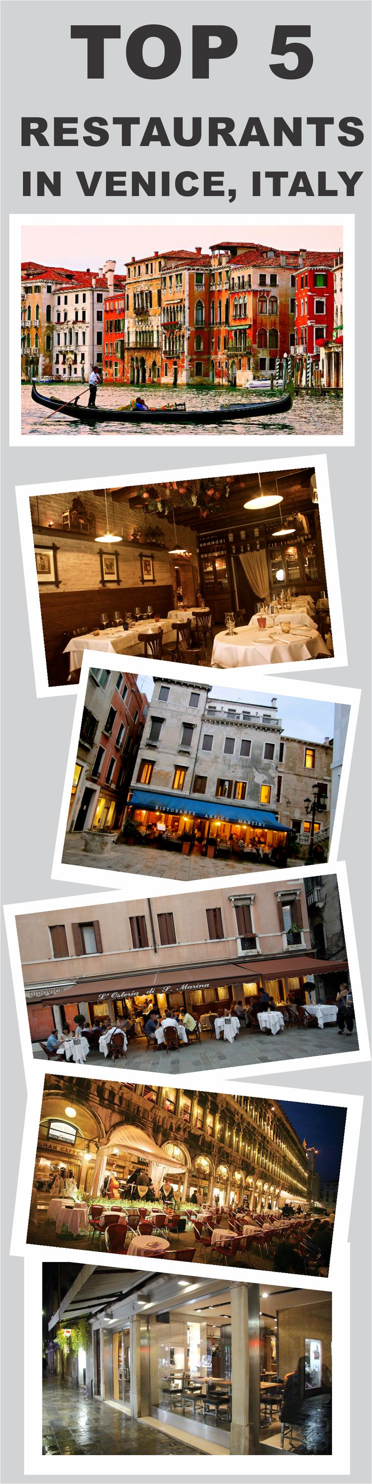 Top 5 Restaurants in Venice, Italy #Venice #Italy #Top5 #Restaurant