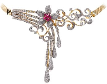 Latest Indian Gold and Diamond Jewellery Designs: TBZ Diamond Jewellery designs