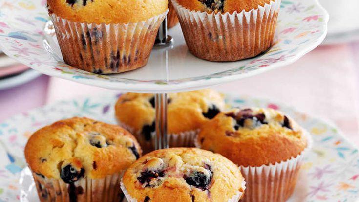 Blueberry & blackberry yogurt muffin image