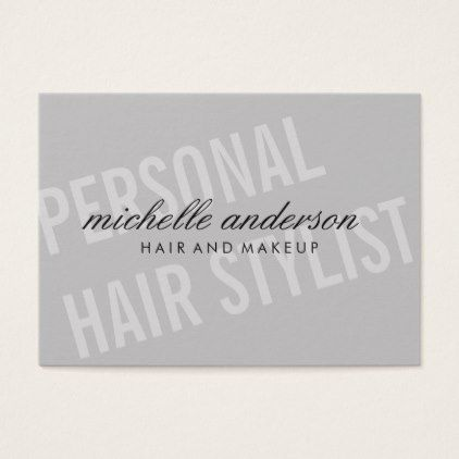 Large Font / Dynamic / Gray Business Card - stylist business card business cards cyo stylists customize personalize