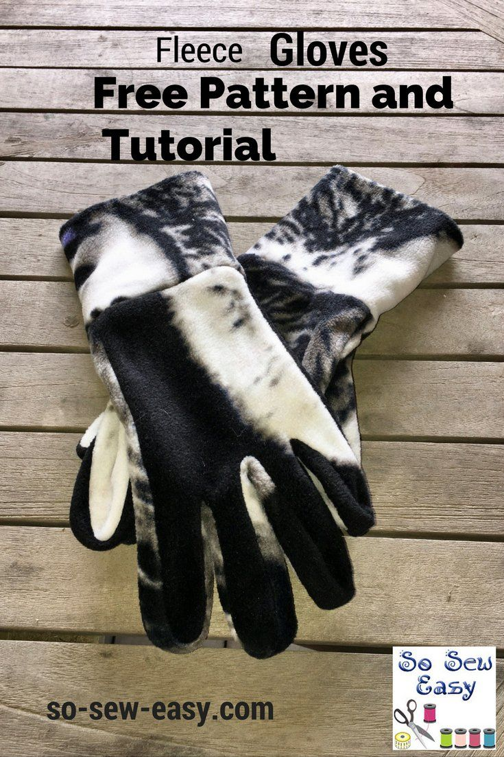 Here's an easy gloves pattern and tutorial for a pair of fleece winter gloves that can be made as a last minute present or for yourself.
