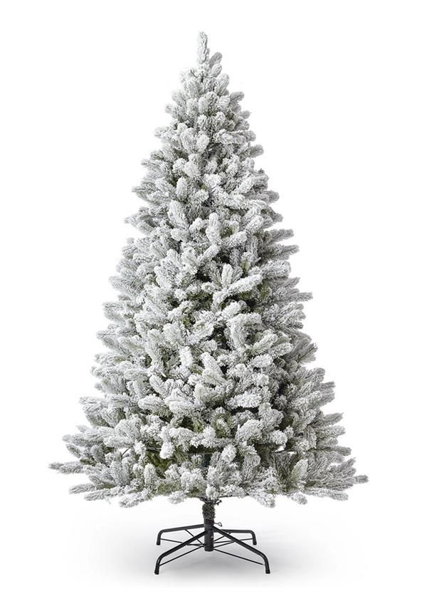 10 Foot King Flock Artificial Christmas Tree Unlit King Of Christmas In 2020 Faux Christmas Trees Flocked Artificial Christmas Trees Artificial Christmas Tree