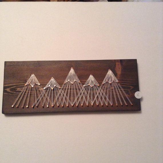 Mountain String Art Five Peaks by agnesinaugustshop on Etsy