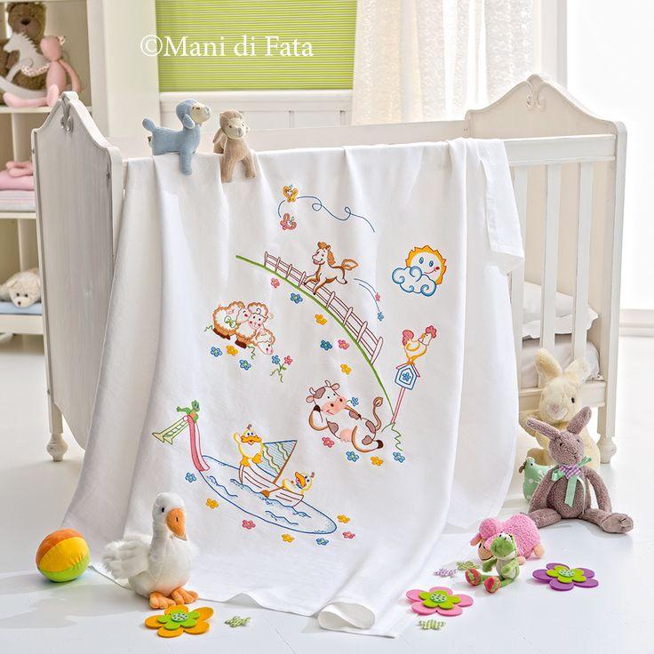 Copertina lettino http://www.manidifata.it/copertina-culla-occorrente-21501072-html.html