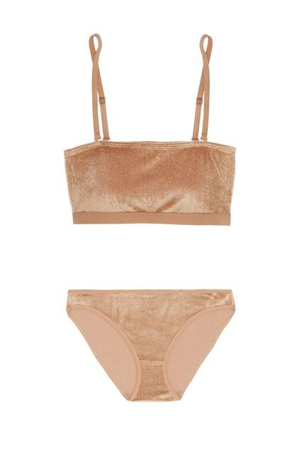 Nude lingerie set http://www.refinery29.com/best-lingerie#slide-4  It's always sexy to leave a little to the imagination. Baserange's matching velour set gives you coverage while still being soft to the touch.Baserange Ines Tube, $70.53, available at Baserange; Baserange Classic Bell Pants, $37.98, available at <a ...