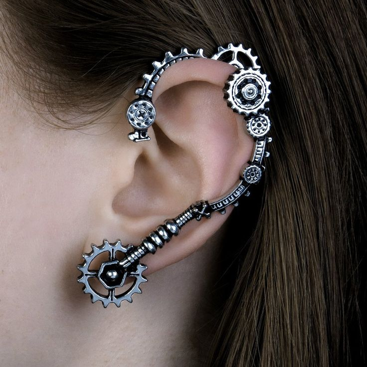 Gain knowledge and comprehension of your inner mental engineering. This 3D cast steampunk ear wrap is made for the left ear only. The cogs and parts of the ear wrap are not functioning/do not move. Yo