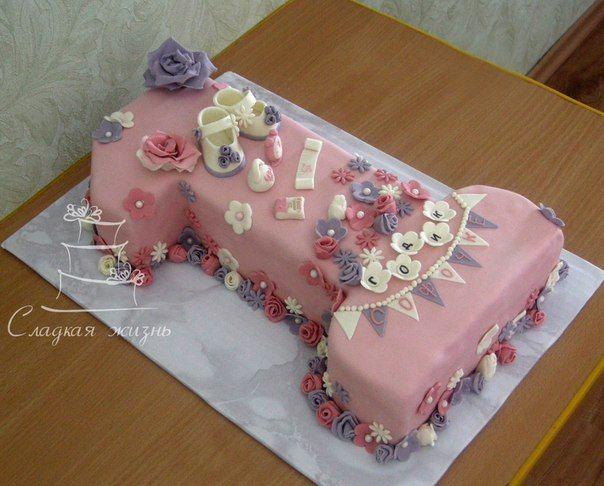 Торт в виде «Единички» на первый день рождения! В бело-розовых-сиреневых тонах.   Внутри - «Карамель»   Вес - 3 кг  Заказать торт в Оренбурге:   по телефону: 208-156,   Viber/WhatsApp 89033935099  ✉ в личном сообщении