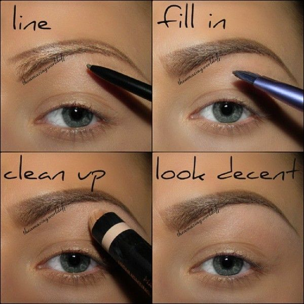 Make perfect looking eyebrows and other beauty tips ... check out the full gallery