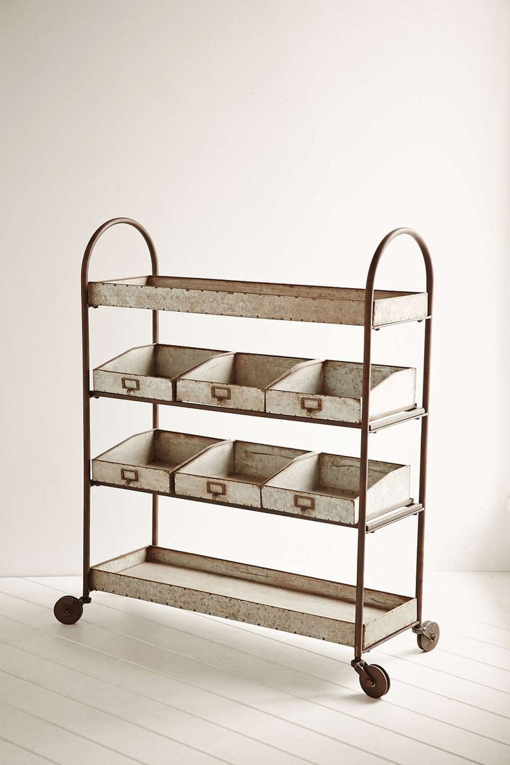 Metal Rolling Cart - Urban Outfitters... would be perfect for books and art stuff omg.