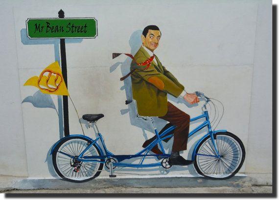 Mr Bean  Graffiti Style  Canvas Print on by AustralianHousePlans