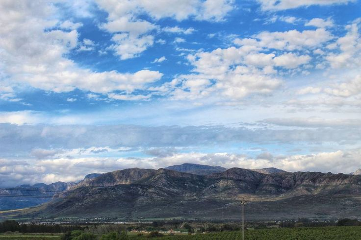"""""""Another amazing view from this weekends uncorked wine festival in Franschhoek.  This is the view from Noble Hills wime estate."""