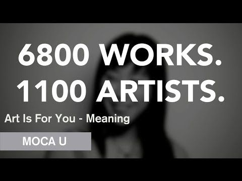 """What is contemporary art?"" Video response in photobooth.  Art Is For You - Meaning - MOCA U - MOCAtv"