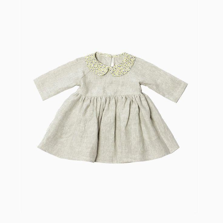 Sadie Dress - Natural/Liberty of London - 2-7y