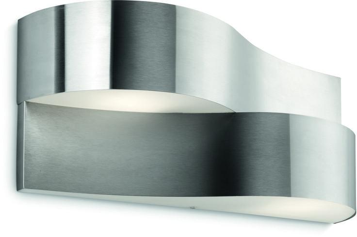 REA! Philips Ecomoods Oriole Vägglampa Rostfritt stål 2x11W E14 IP44 - HemOchBastu.se