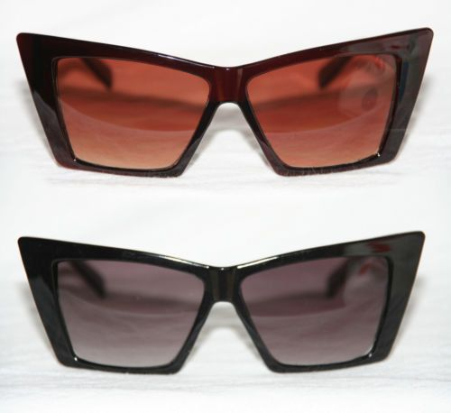 Cat Eye Pop Sonnenbrille Design Geek Glasses Sonnenbrille schwarz o. braun 688