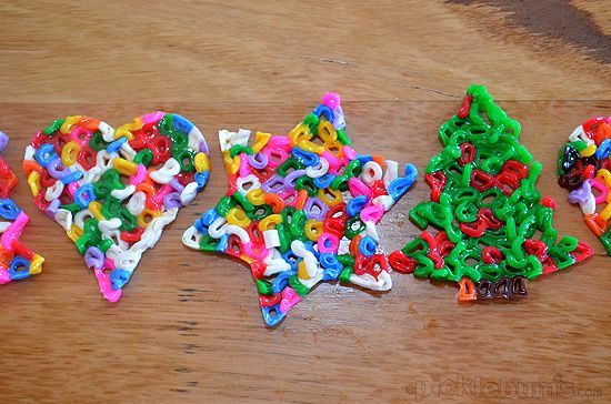 Fusible Bead Christmas Decorations from picklebums.com