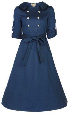 Lindy Bop 'Velma' Vintage WW2 1940 double breasted robe de thé militaire: Amazon.fr: Vêtements et accessoires