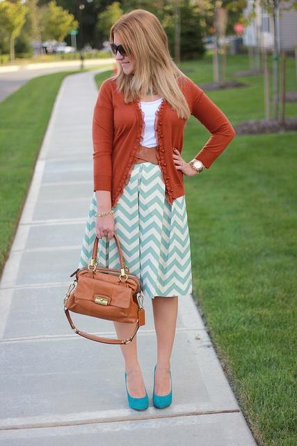 Corilynn Chevron Skirt