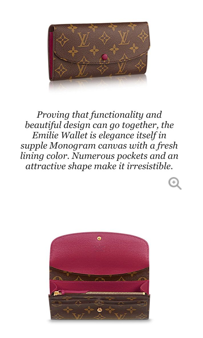 Louis Vuitton Emilie wallet. Which print & colour to choose? This one is…