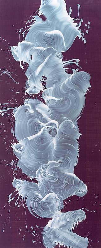 One more from James Nares, also oil on linen. Like milk hurled through the air and captured on high speed film.